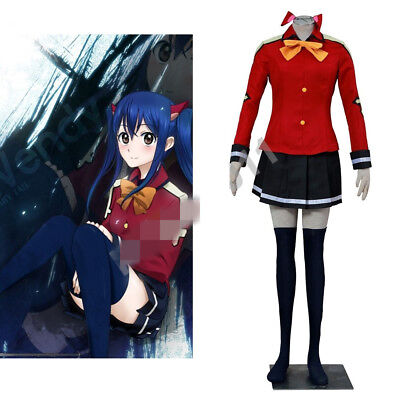 NEW Fairy Tail Happy blue cat Personification Cosplay Costume GG.702