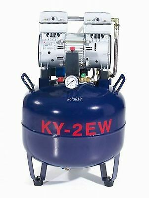 1pc One Driving Two 38L Medical Noiseless oilless Dental Air Compressor CE KOLA