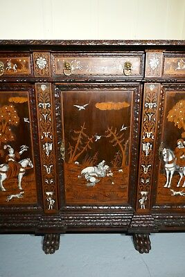 Superb 18th century Italian Inlaid Marquetry Game Cupboard