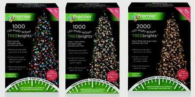 Multi Action Christmas Tree Lights TREEBrights Cluster Tree Lights by Premier