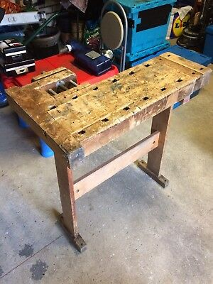 Old School Work Bench With 2 Vices