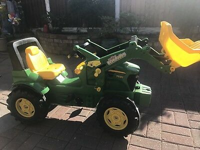 John Deere Childrens Pedal 7930 Premium Tractor With Loader Kids Ride o Farm Toy