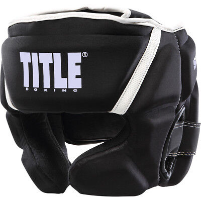 Title Sculpted Thermo Foam Headgear - Regular - Black