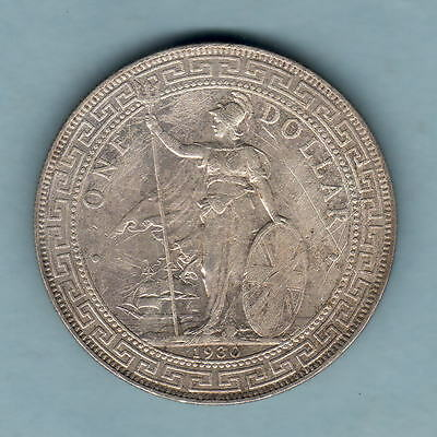 Great Britain.  1930 Trade Dollar..  Part Lustre..  VF/aEF