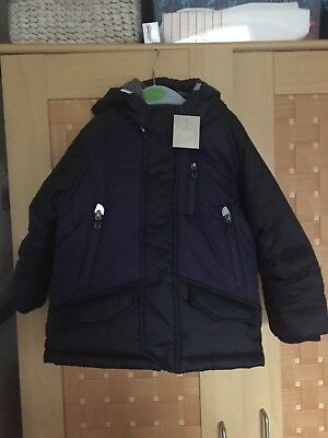 boys next coat 2-3 BNWT Navy padded parka