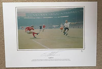 Geoff Hurst Signed Pic Pixsportique 1966 World Cup Goal