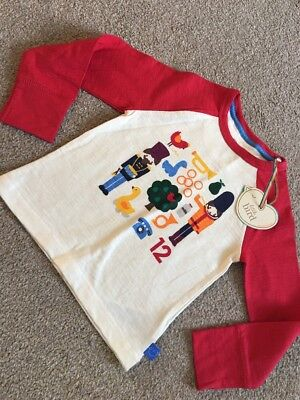 Little Bird By Jools Oliver 12 Days Of Christmas Raglan Retro Baby Top 12-18 M