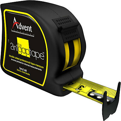 Advent 2-In-1 Double Sided Gap Tape Measure Imperial & Metric 16ft / 5m 25mm