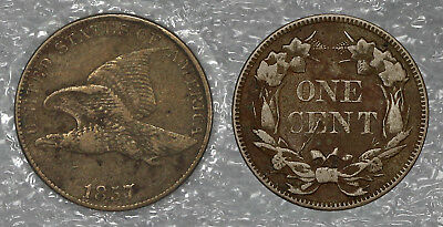 1857 Flying Eagle Cent Raw Circulated