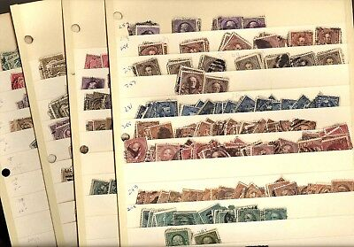 US, Excellent Accumulation of USED 19th/20th century stamps in stock sheets