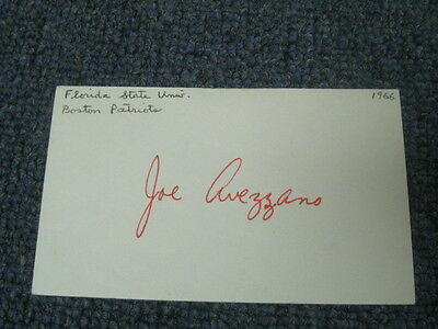 Joe Avezzano Autographed Index Card
