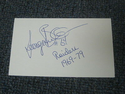 George Buehler Autographed Index Card