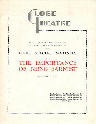 1939. The Importance Of Being Earnest. By Oscar Wilde. Globe Theatre, London.