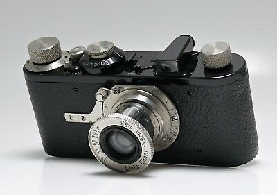 LEICA 1a with ELMAR 5cm f3.5 LENS NO.7522 - STUNNING RESTORED EXAMPLE