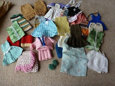 Sindy Joblot Vintage home made clothes to actual Sindy patterns
