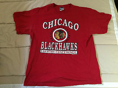 Chicago Blackhawks NHL Hockey T-Shirt ERROR - Size XL