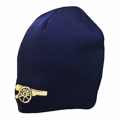 Arsenal FC Official Product Beanie Hat Navy Club GOLD LOGO New Season