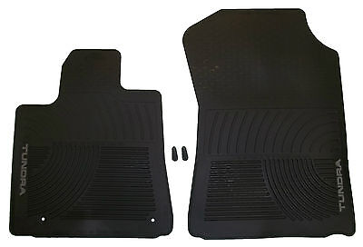 New Premium All Season Weather Rubber Floor Mats Black For Toyota Tundra 07 08