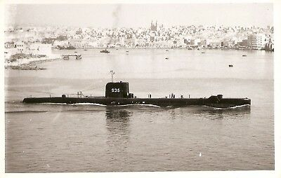 WRIGHT & LOGAN PHOTO,   HMS TAPIR,  S35,   1960,    'T'  class Submarine