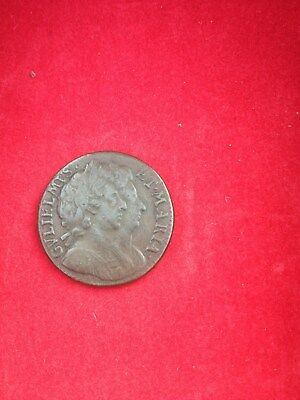 TOP GRADE Collectable William & Mary Farthing coin Date 1694,