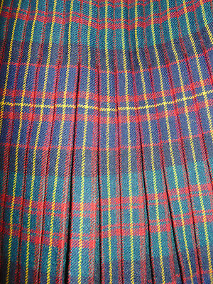 Vintage heavy wool Scottish Tartan Kilt Camerons No4 military dated 1951 waist34