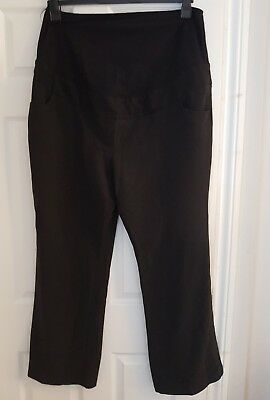 Next Black Maternity Pants/Trousers over the bump size 20 R