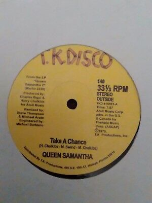 """QUEEN SAMANTHA Take a chance / MAD DOG FIRE DEPARTMENT Cosmic funk Reissue 12"""""""