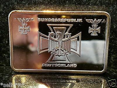 Bundesrepublik Directorate Deutschland Germany Bar Gold Iron Cross Reichs German