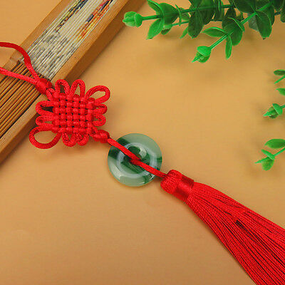 Antique 1Pcs Chinese Knot Artifical Jade Harmony Scenic Tassels Pendant Gift NEW