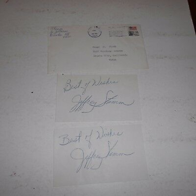 Jeffrey Stamm was a tenor for many years 1983 Hand Signed 2 Cards Envelope