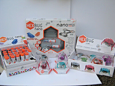 Lot HEX Bugs NIB Habitat Set 29 Hex Bugs 5 Hex Crabs 4 Inchworm Remote Control