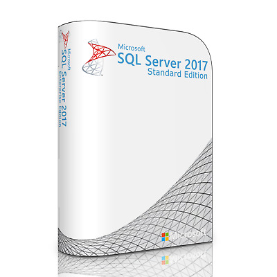MS SQL Server 2017 Standard with 8 Core and Unlimited CAL License. Full, New.
