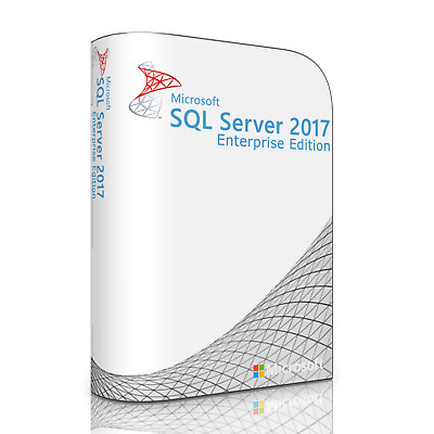 MS SQL Server 2017 Enterprise with 16 Core and Unlimited CAL License. Full, New.