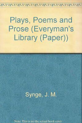 Plays, Poems and Prose (Everyman's Library) by Synge, J. M. Paperback Book The