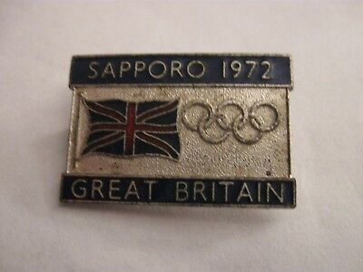 Rare Old 1972 Winter Olympic Games Gb Team Competitor Enamel Brooch Pin Badge