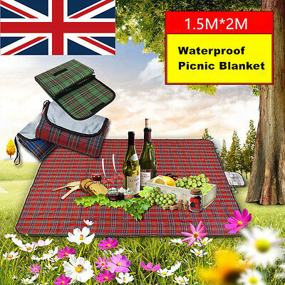 Foldable Outdoor Camping Waterproof Grass Mat Picnic Blanket Rug size 200*150cm