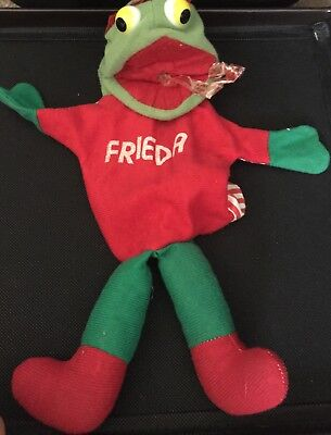 Rare Vintage Antique FREIDA The Frog Hand Puppet Free Shipping