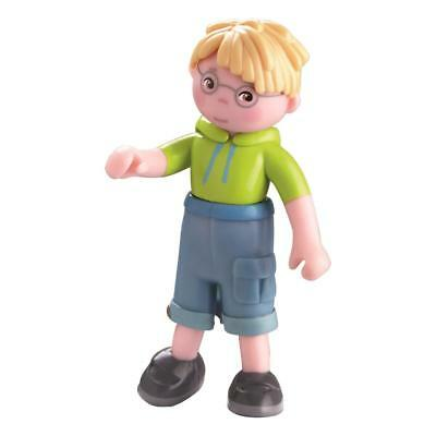 Haba Little Friends Puppe Steven | Haba 301969 | Biegepuppe | Mini Puppe 9,5 cm