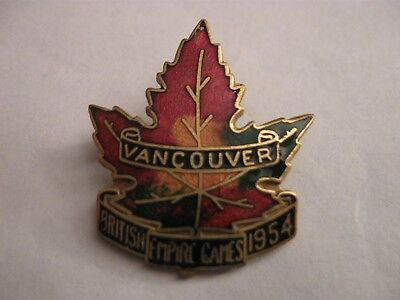 Rare Old 1954 Vancouver British Empire Games Enamel Brooch Pin Badge