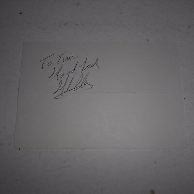 Gil Clancy was a Hall of Fame boxing trainer Hand Signed 6 x 4 Card