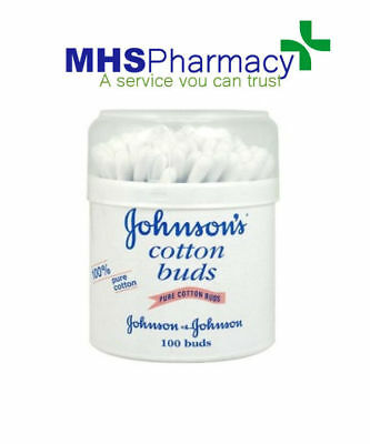 12 x Johnsons Cotton Buds Qty 100 Per Tub For Cleaning Ears Nose blue sticks