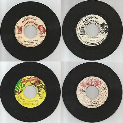 "4 x 7"" SINGLES - GREGORY ISAAC - REGGAE / ROOTS"
