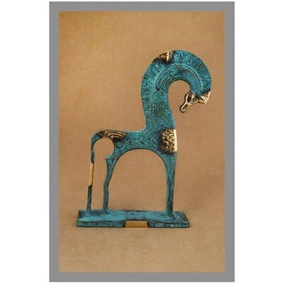Ancient Greek Bronze Museum Statue Replica Of A Geometric Era Horse Collectable