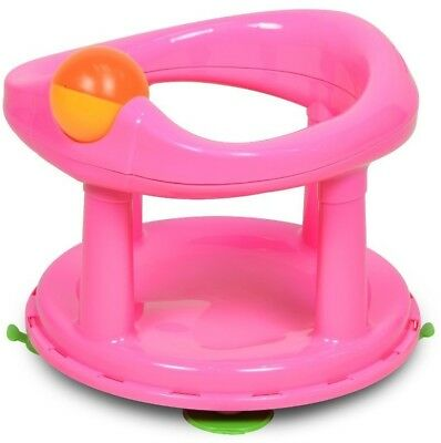Safety 1st Swivel Bath Seat - Pink support bathing chair