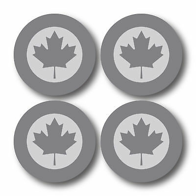 4 x Low Vis Canadian Air Force Aircraft Roundels Vinyl Stickers Deal 50mm - 2756