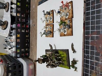 age of sigmar Warhammer Fantasy Orc snotling pump wagon and snotlings