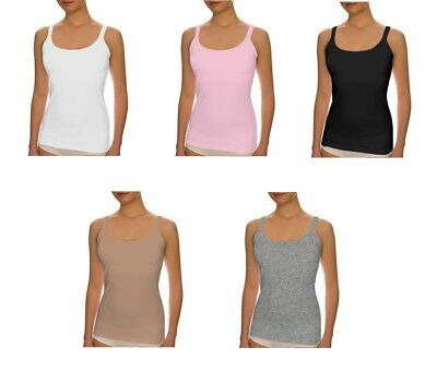 THE BEST FITTING UNDERSHIRT IN THE WORLD - Women's Shelf Bra Cami Top - NEW