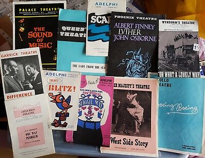 11 X Vintage Theatre Programmes, London Theatres, 1960 - 1964