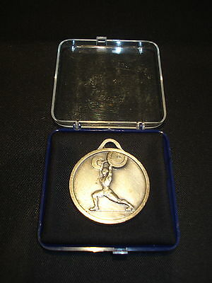 Olympic Weightlifting Medal - Antique Medal with case