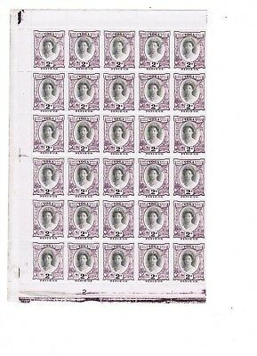 Tonga 1920 2d Queen Salote stamp in complete sheet of 60 U/M cat £600